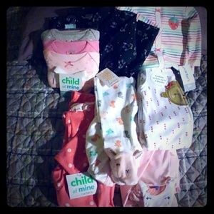 Lot of Carter's 3-6 months Sleepwear